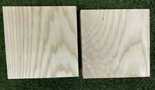 "2 PIECES LOT, AMERICAN ASH BOWL BLANK LATHE, TURNING WOODS 6"" x 6"" x 2"""