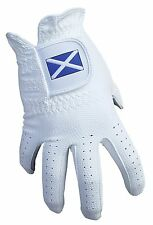 ACCLAIM Bowls Glove Scotland Scottish Saltire All Weather Ladies White Synthetic