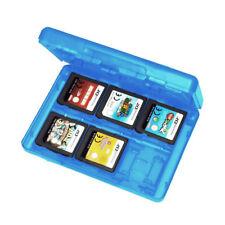 1pc Carte de jeu portable affaire boîte rangement pour Nintendo 3DS Bleu G