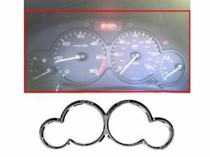 Chrome Dashboard Gauge Ring Bezel For Peugeot 206 1998-2006