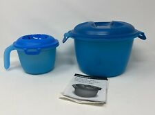 2 Tupperware Microwave Rice Makers/ Cooker + (1) Instructions #6972 & #6451 New