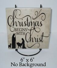 Christmas begins with Christ Nativity decal sticker for DIY 8
