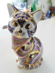 Royal Crown Derby Gilt & Imari CAT XLIX -  Gold Stopper from a Famous Owner!