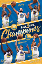 Golden State Warriors 2018 NBA Champions 6-Player Action Basketball Wall POSTER