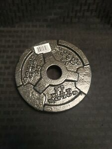 1 New Single 2.5 Lbs Golds Gym Barbell Plate Weight Home Gym Equipment