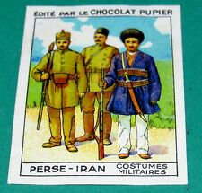 CHROMO PERSE IRAN N°169 CHOCOLAT PUPIER ASIE 1936 COSTUMES MILITAIRES SOLDATS