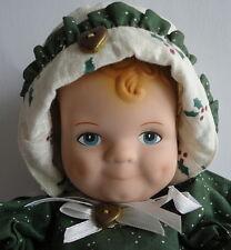 Daisy Kingdom 1991 Vinyl Scootles Doll & Christmas Noel Outfit w/ Bonnet & Shoes