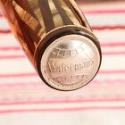 """Vintage WATERMAN'S Silver-RAY Ink-Vue """"IDEAL"""" Emblem Amber-Striped Fountain Pen"""