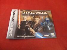 Star Wars Episode II Attack of the Clones Game Boy Advance Instruction Manual