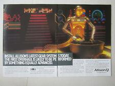 10/1989 PUB ALLISON GM DEFENSE GEAR SYSTEM GMA 2100 PROPFAN ROBOT ORIGINAL AD