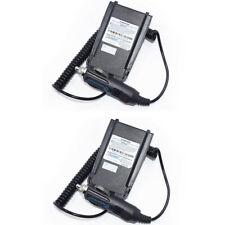 2X WOUXUN 12-24V Car Charger Battery Eliminator For KG-UV8D Walkie Talkie kguv8d