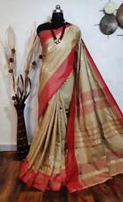 jute silk Designer Sari Bollywood Sari Indian Wear Women's Special Wear I 2-1