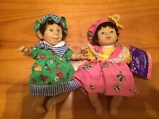 """8"""" Gi-GO My Palm Pals Bean Bag Kids Expression Cute Happy Face Doll Lot Of 2"""