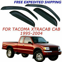 For Toyota Tacoma Extended Cab 1995-2004 Smoke Window Visor Vent Rain Guards