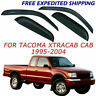 For Toyota Tacoma Extended Cab 1995-2004 Smoke Window Visor Vent Rain Guards