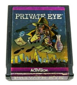 Private Eye (Atari 2600, 1984) By Activision (Cartridge only) NTSC