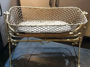 Victorian vintage moses cot crib cast wrought  iron g.h.needham 1890 1900