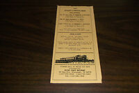 1996 MAINE COAST RAILROAD  TIMETABLE