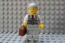 LEGO Grandfather Older Gentleman Grandpa Lawyer Realtor Business Brown Briefcase