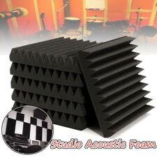 "6 Pack Acoustic Studio Foam Tile Pad Wall Panel Soundproofing Wedge 12""x12""x2"""