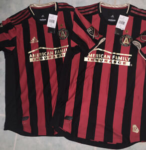 Men's Adidas Authentic Atlanta United FC MLS Soccer Jersey Climacool Large 2019