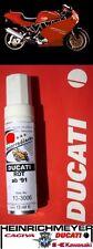 Ducati Lackstift rot ab 1991 DUCATI ROT 12ml NEU Lacquer pen Red Touch-up stick