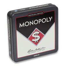 Monopoly Nostalgia Tin Edition Board Game Winning Solutions Classic Vintage New