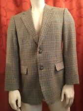 40 R Vintage DAKS LONDON Check Plaid TWEED BLAZER Black BLUE Rust TAUPE GANGNAM