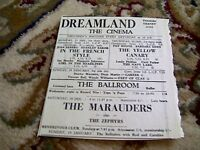 67-6 ephemera 1964 advert dreamland margate the marauders zephyrs