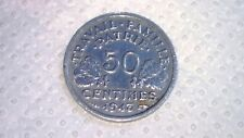 Monnaies, État français, 50 centimes Bazor, 1943