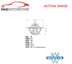 ENGINE COOLANT THERMOSTAT WAHLER 313688D50 P FOR VOLVO 340-360 1.7 1.7L 59KW