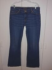 LEVI STRAUSS & CO LADIES COTTON/SPANDEX JEANS-15 MED-GENTLY WORN-LIGHT DISTRESS
