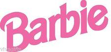 WHITE COTTON Large Barbie Logo Craft T-Shirt Value Iron On Transfer 12x5.5.cms