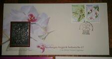 Royal Selangor Premier Pewter Stamp FDC - 2002 World Orchid Conference Anggerik