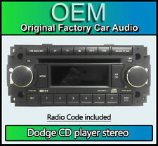 Dodge Ram CD player, Dodge P05064067AE car stereo with radio code BRAND NEW