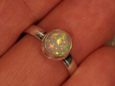 SZ 8 Cabochon Opal Ring 925 Sterling Silver Ethiopian Welo Fire Opal 5 6 7 9 10