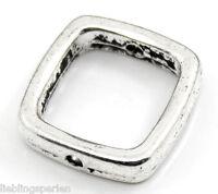 30 Antiksilber Quadrat Spacer Rahmenperlen für 10mm Perlen Beads L/P