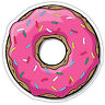 Donut Doughnut Pink Icing Vinyl Sticker Decal Car Truck Laptop Window Sizes