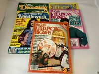 Lot 5 Vintage Crafting & Decorating Magazines- McCall's Needlework & Crafts 80's