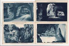 Lot 4 cartes postales anciennes DRÔME route des grands goulets 10