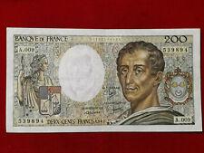 Billet 200 Fr Montesquieu 1982 Fay 70/2 Alph A.009 TTB+ / VF+ !!