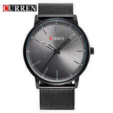 CURREN Watches Men Stainless Steel Mesh Strap Quartz Wristwatches Ultra Thin z