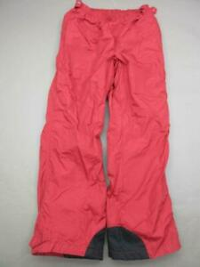 Columbia Size L(30) Mens Red Athletic Nylon Lined Outdoor Snow Pants T219