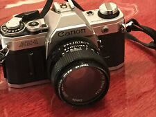 Vintage SLR Canon AE 1 Camera With Canon FD 50mm 1.4Lens