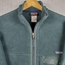 PATAGONIA SYNCHILLA Size Medium Mens Full Zip Blue Fleece Jacket Coat Snap T