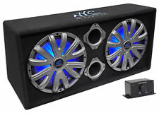"NYC Acoustics NSE212L Dual 12"" 1800w Powered/Amplified Car Subwoofer System+LED"