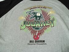 JOURNEY Night On The Green 5/16/2014 ONE TIME CONCERT 3/4 Sleeve T-SHIRT XL Tee