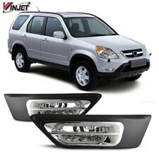 For 2002-2004 Honda CR-V Winjet OE Factory Fit Fog Light Bumper Kit Clear Lens