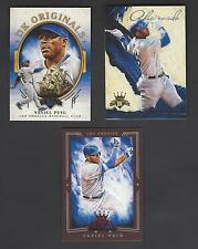 Yasiel Puig 3 Different Cards - NICE Inserts!!