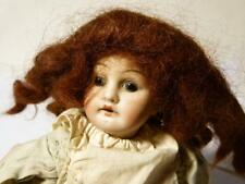 Antique Bisque Porcelain Head Doll statique yeux en verre composition corps Habillé